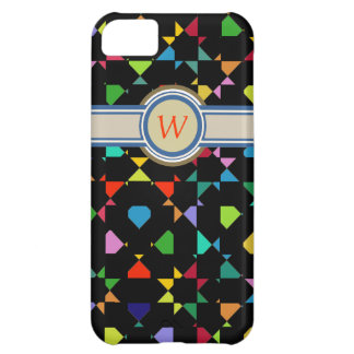 colorful add initial monogram iPhone 5C cover