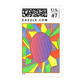 Colorful add photo postage stamps, custom
