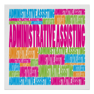 Colorful Administrative Assisting Poster