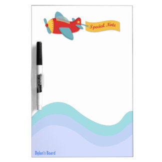 Colorful & Adorable Cartoon Aeroplane Dry-Erase Board