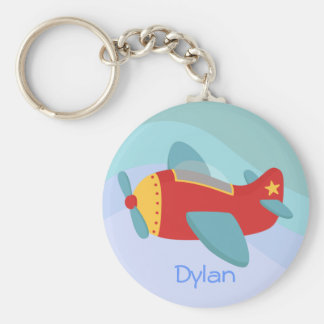 Colorful & Adorable Cartoon Aeroplane Keychain