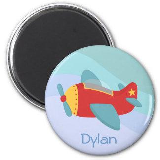Colorful & Adorable Cartoon Aeroplane Magnet