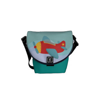 Colorful & Adorable Cartoon Aeroplane Messenger Bag