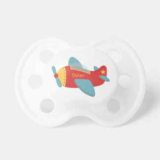 Colorful & Adorable Cartoon Aeroplane Pacifier
