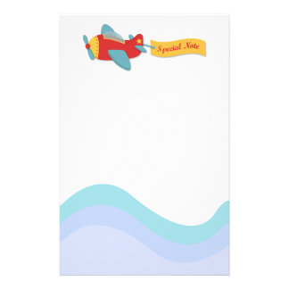 Colorful & Adorable Cartoon Aeroplane Stationery Paper
