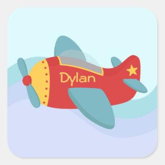 Colorful & Adorable Cartoon Aeroplane Sticker