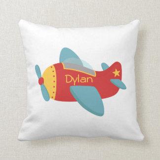 Colorful & Adorable Cartoon Aeroplane Throw Pillow