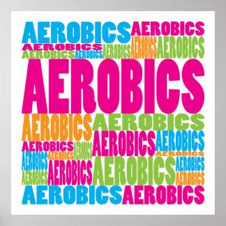 Colorful Aerobics Poster