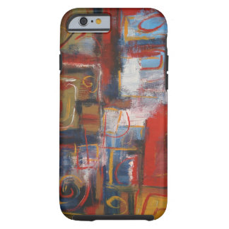 Colorful African Abstract Expressionist Artwork Tough iPhone 6 Case
