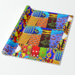 "Colorful African Fabric Print Wrapping Paper<br><div class=""desc"">African Fabric Print Wrapping Paper</div>"