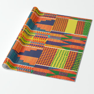 Colorful African Kente Wrapping Paper