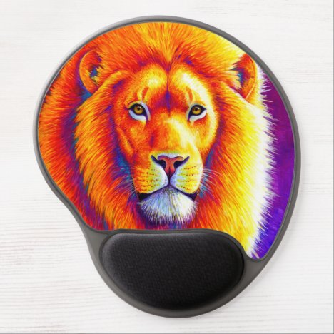 Colorful African Lion Gel Mousepad