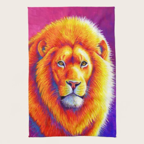 Colorful African Lion Kitchen Towels