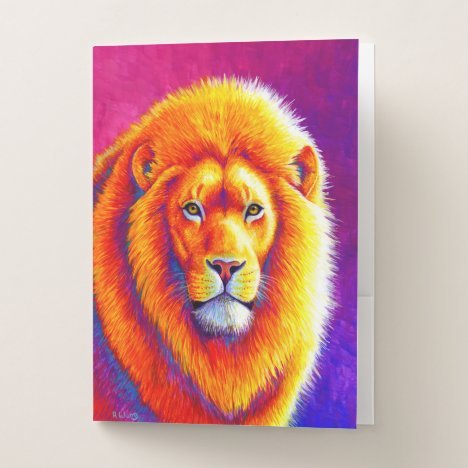 Colorful African Lion Pocket Folders