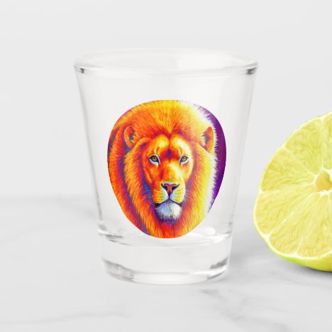 Colorful African Lion Shot Glass