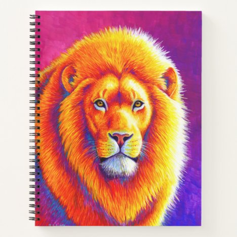 Colorful African Lion Spiral Notebook
