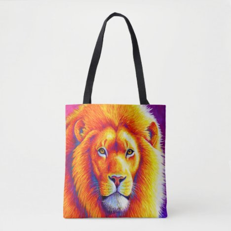 Colorful African Lion Tote Bag