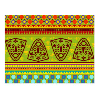 Colorful African Pattern Postcard