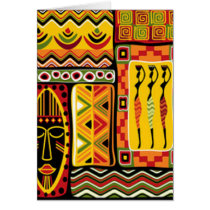 Colorful African Pattern Print Collage