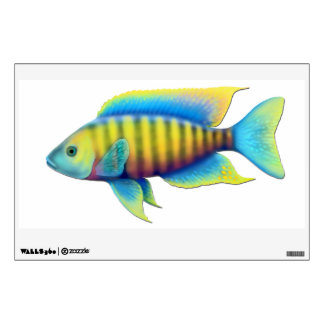 Colorful African Peacock Cichlid Fish Wall Decal
