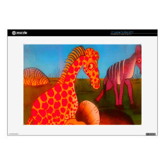 Colorful  African wild animal safari colors Decal For Laptop