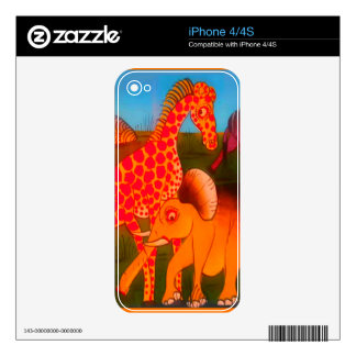Colorful  African wild animal safari colors iPhone 4S Decal