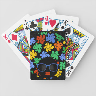 Colorful Afro Love Bicycle Playing Cards