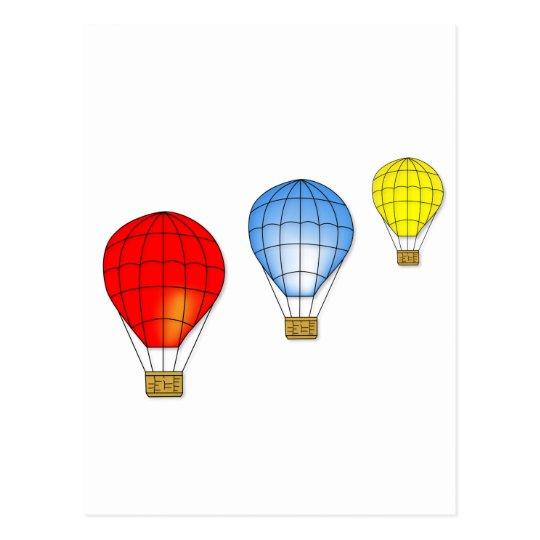 Colorful air balloons postcard