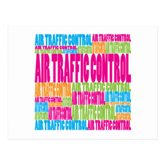 Colorful Air Traffic Control Postcard