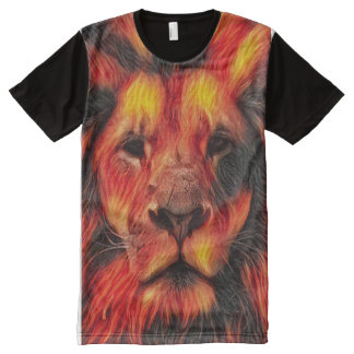 Colorful Airbrush Lion Art All-Over-Print T-Shirt