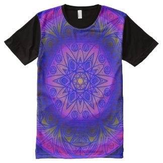 Colorful Airbrush Magic Mandala Indie Art All-Over-Print Shirt