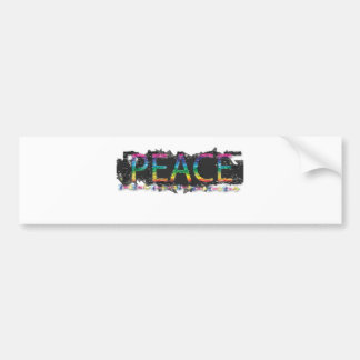 colorful airbrushed peace bumper sticker
