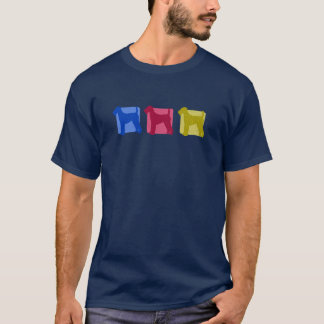 Colorful Airedale Terrier Silhouettes T-Shirt