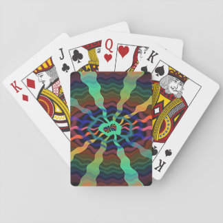Colorful Airwaves Playing Cards