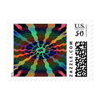 Colorful Airwaves Postage Stamps