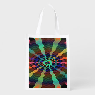 Colorful Airwaves Reusable Grocery Bag