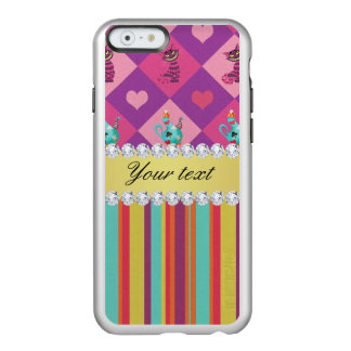 Colorful Alice in Wonderland and Stripes Incipio Feather Shine iPhone 6 Case