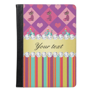 Colorful Alice in Wonderland and Stripes iPad Air Case