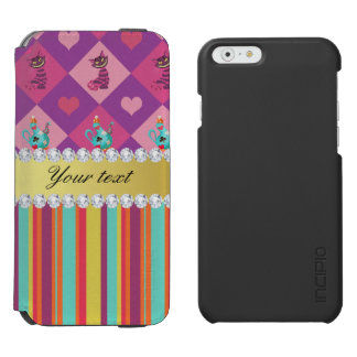 Colorful Alice in Wonderland and Stripes iPhone 6/6s Wallet Case