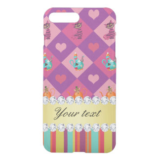 Colorful Alice in Wonderland and Stripes iPhone 7 Plus Case