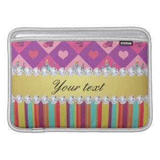 Colorful Alice in Wonderland and Stripes MacBook Air Sleeve