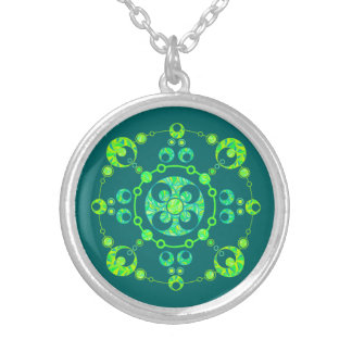 Colorful Alien Art Cool Crop Circle Jewelry Charm
