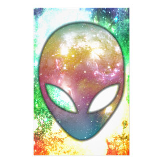Colorful Alien Stationery