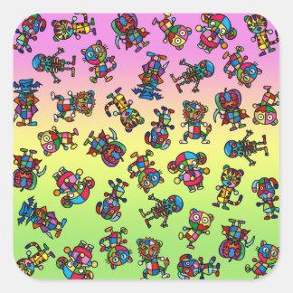 colorful all square sticker