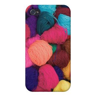 Colorful Alpaca Wool, Huaraz, Cordillera Blanca iPhone 4 Cases