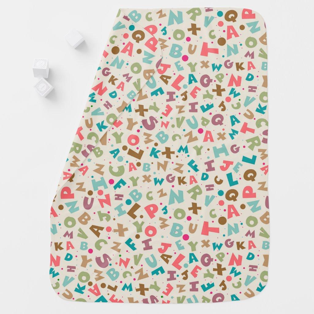 Colorful Alphabet Baby Blanket