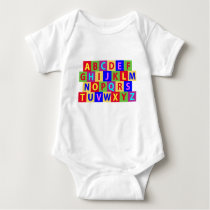 Colorful Alphabet Baby Bodysuit