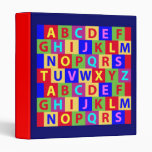 Colorful Alphabet Binders