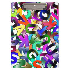 Colorful Alphabet Clipboards