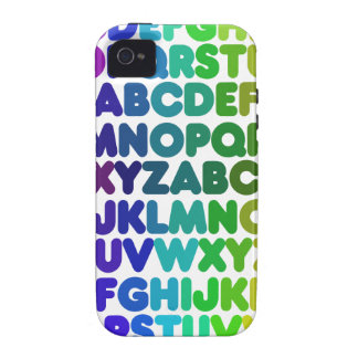 Colorful Alphabet for a TEACHER Case For The iPhone 4